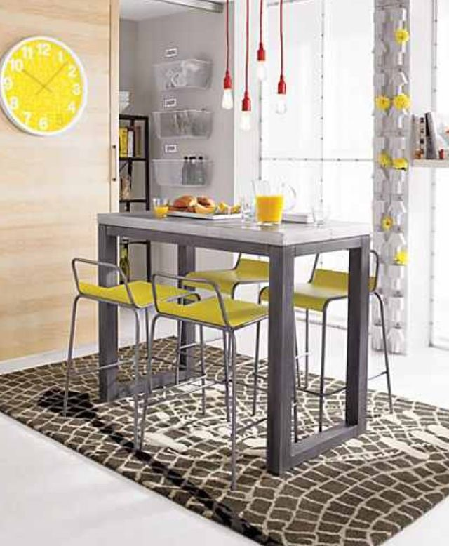 Stern Counter Height Table Cb2 We Nailed It Our First Counter Height Just Right Table Tops Out In Modern Dining Table Counter Table Cheap Dining Room Sets
