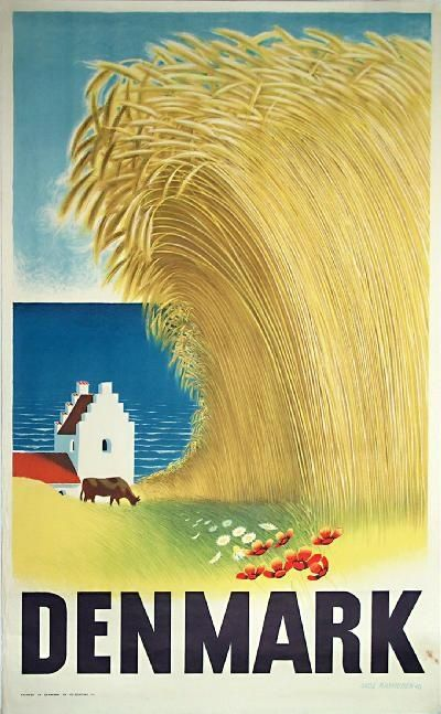 Denmark With Images Vintage Travel Posters Travel Posters Retro Poster