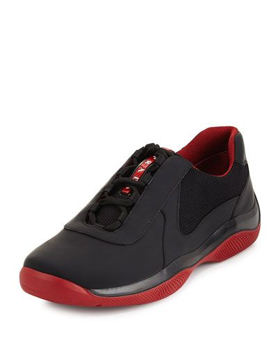 b048d06dd5 PRADA PUNTA ALA LEATHER SNEAKER