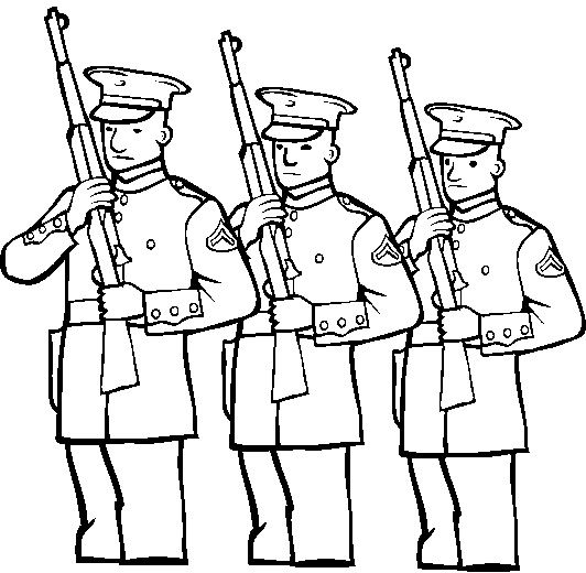 Marine Corps Memorial Day Coloring Page
