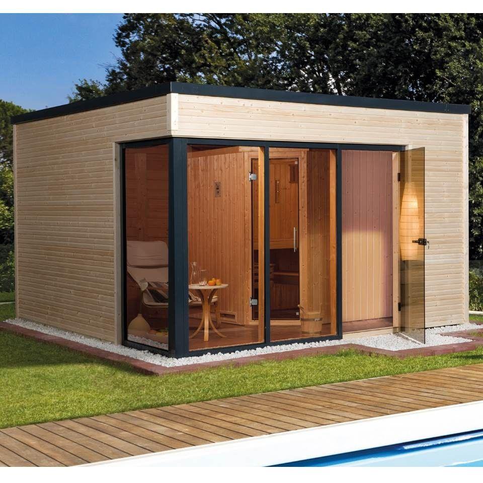 Weka Design Saunahaus 412   Gartensauna 45/68 Mm | Sauna.koempf24.de