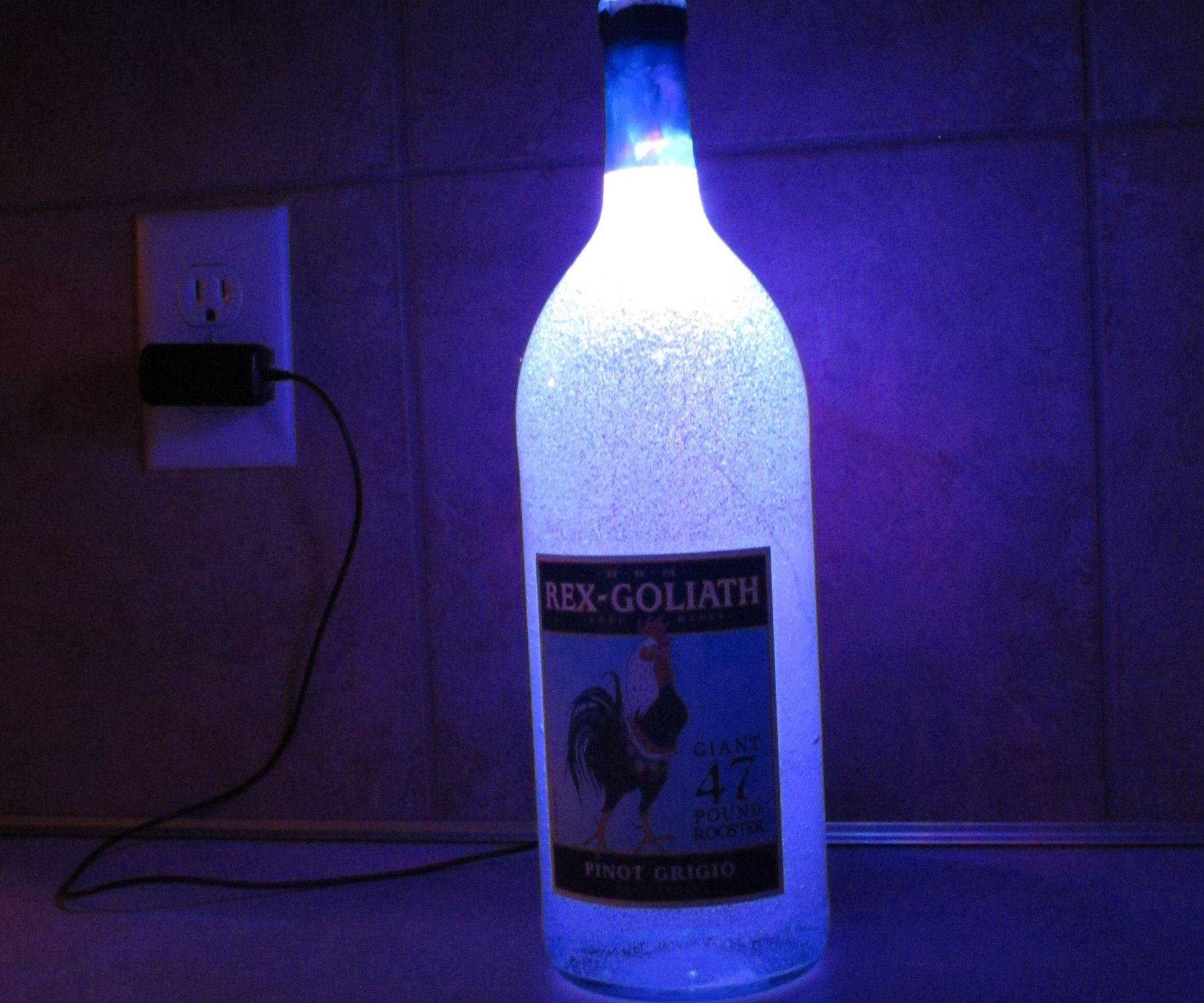 Wine Bottle LED Gel Lamp