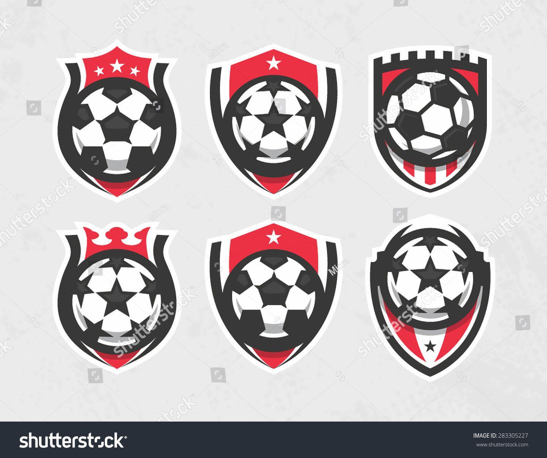 Great Modern Vector Soccer Logo Set