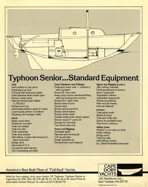 cape dory typhoon senior 22 | Sailboats 22' - Cape Dory