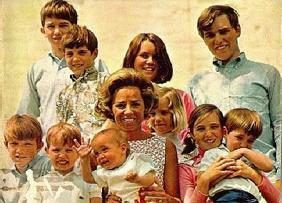 As a widow, Ethel Kennedy raised her large and active brood of children on her own.