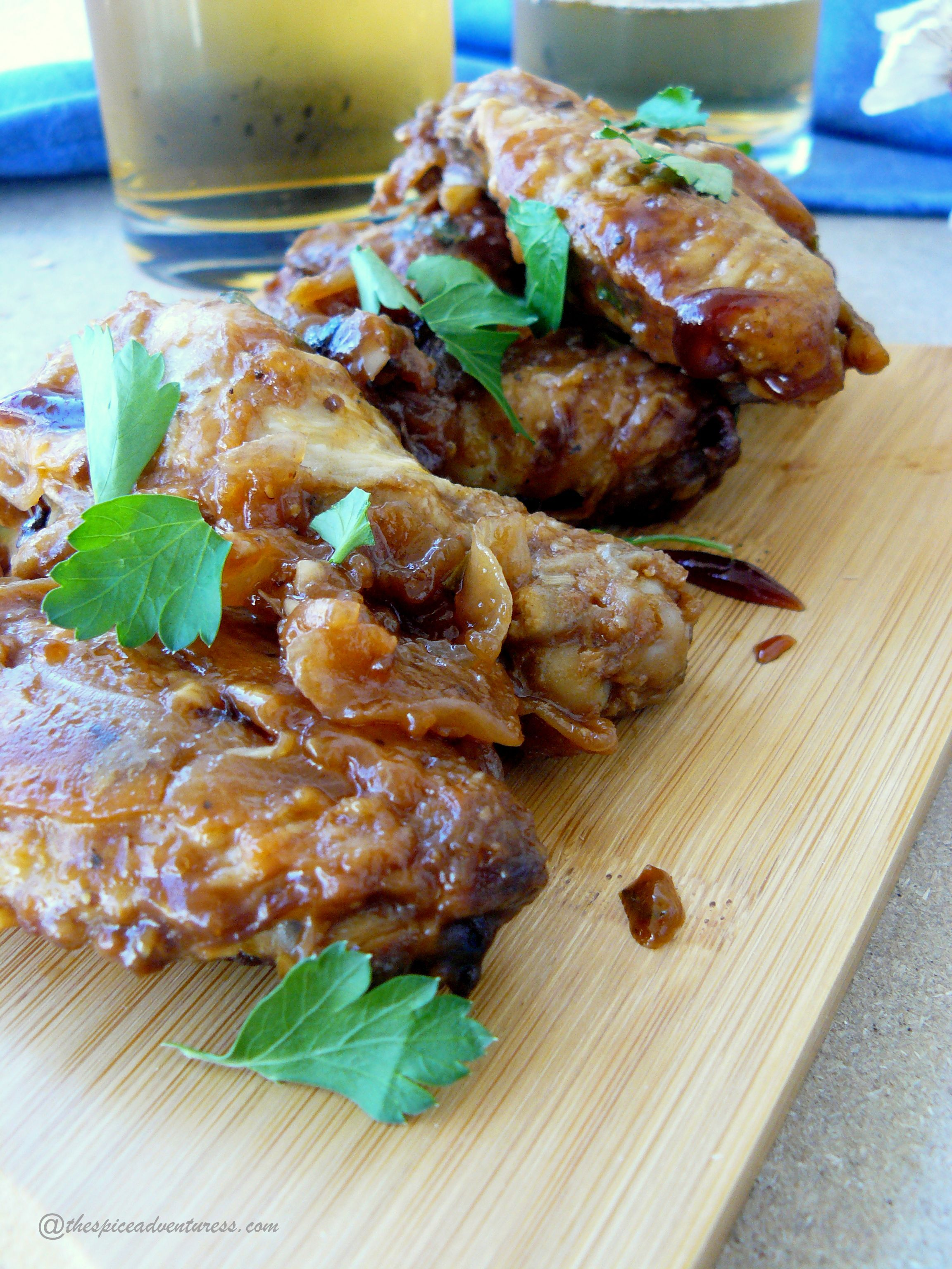 Barbecue Chicken Wings @thespiceadventuress.com