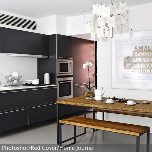 Bierbankgarnitur für die Wohnküche Kueche, Massivholz and Auf - moderne kuche in minimalistischem stil funktionalitat und eleganz in einem