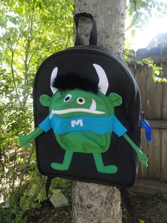 Hey, I found this really awesome Etsy listing at http://www.etsy.com/listing/79016353/custom-monster-backpack-matthew
