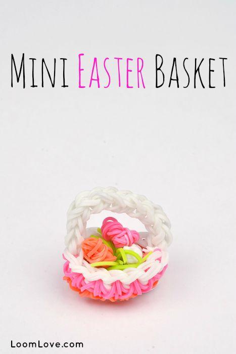 Rainbow Loom Instructions for Mini Easter Basket #rainbowloom