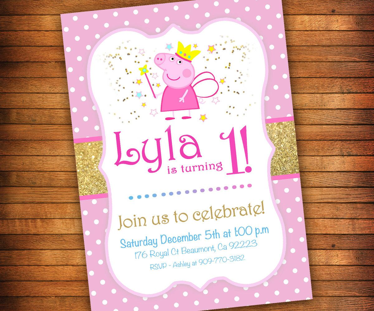 Peppa Pig Invitation, Peppa Pig Birthday Party Invitation ...