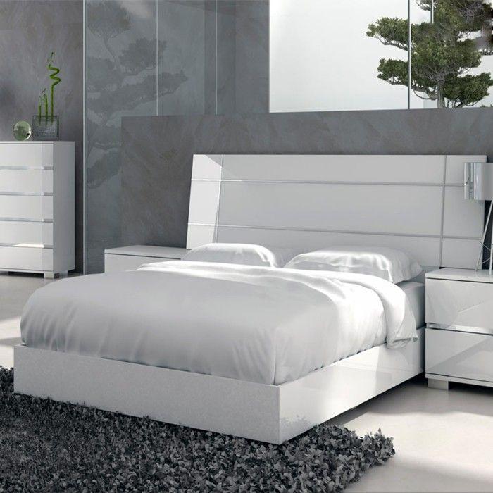 schlafzimmer einrichten weiß grau frisch hell | schlafzimmer ideen ... - Schlafzimmer Einrichten Wei
