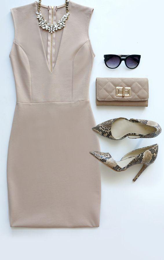 cde72103f538 Love the Limelight Beige Dress