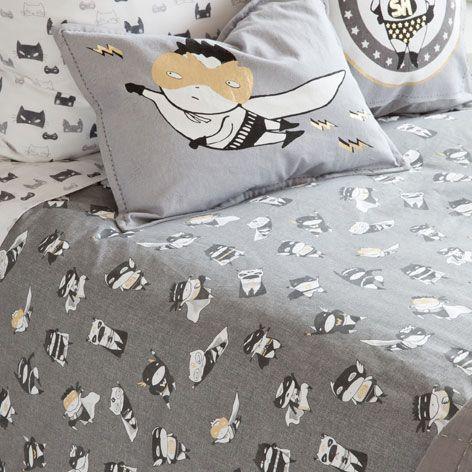 linge de lit imprim personnages deco pour enfants. Black Bedroom Furniture Sets. Home Design Ideas