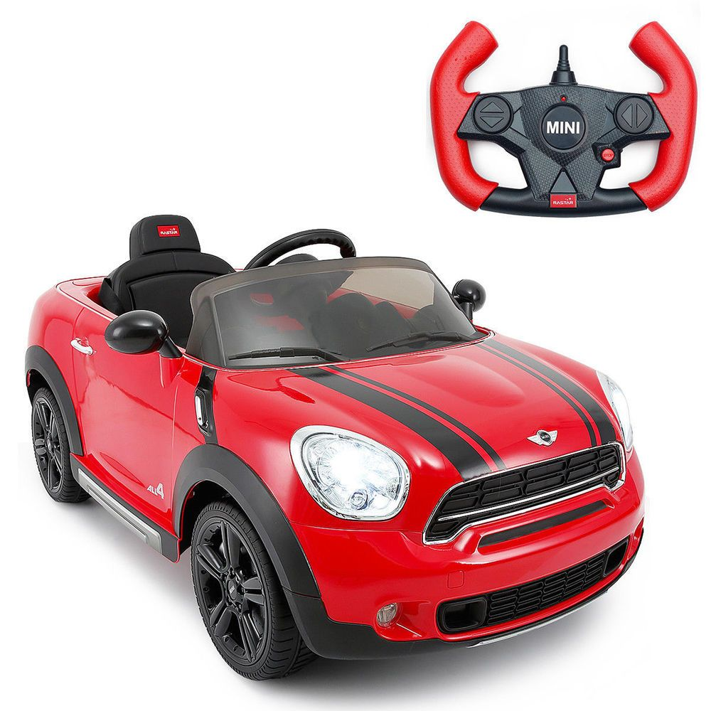 Kids Ride On Mini Cooper Style Sports Car 12v Battery Powered Rc Mp3 Input Red Mini Countryman Kids Ride On Car