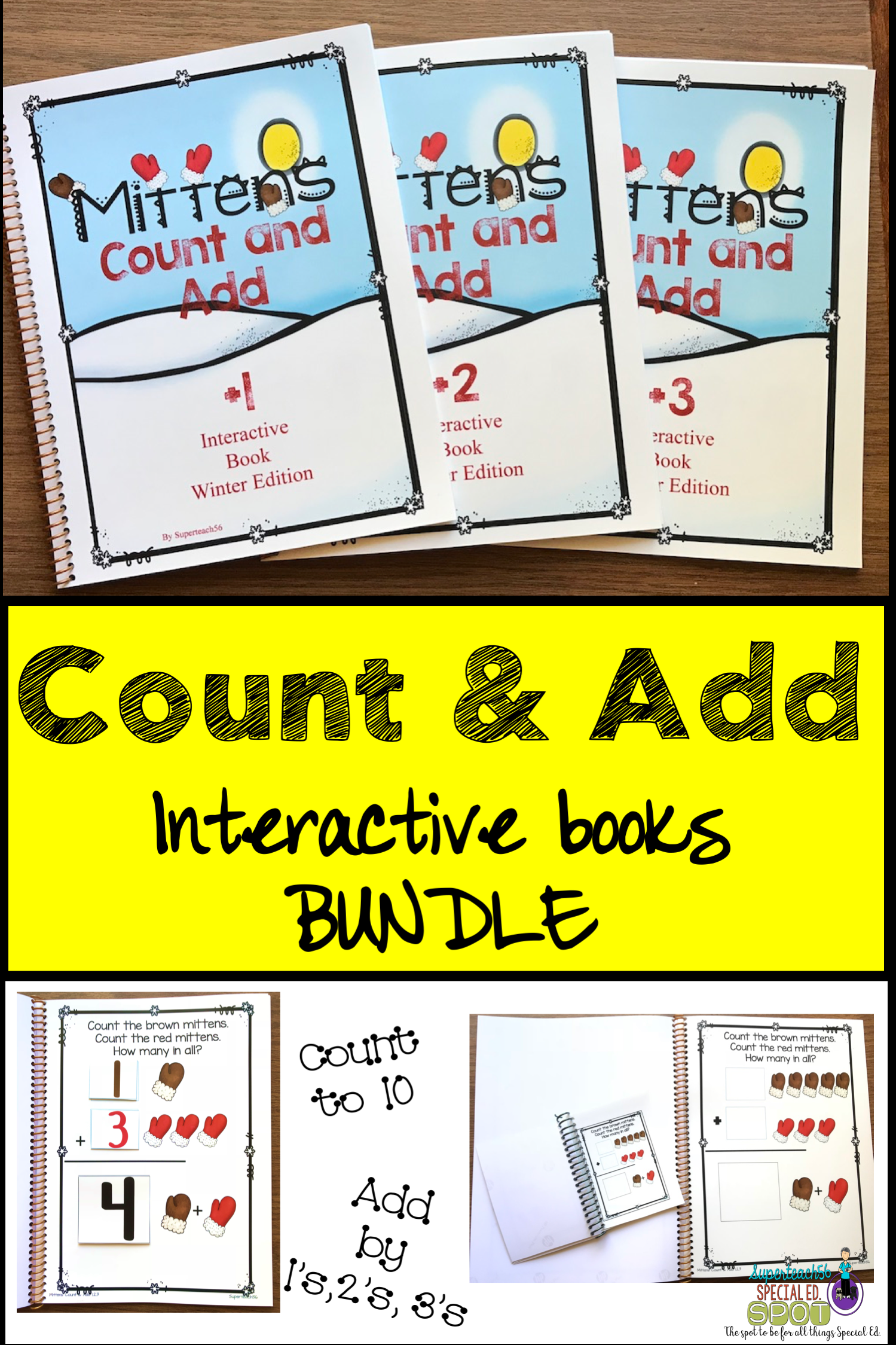 Count And Add Fact Families Mitten Fact Family 1 2 And 3
