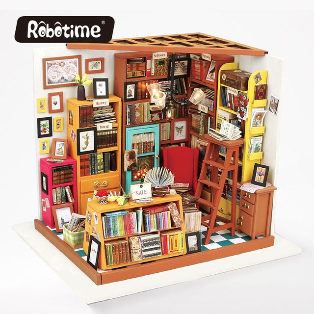 Pin by rimm chic on puppenhaus pinterest robotime diy wooden dollhouse kits miniature furniture accessories for girls boys with led light creative gift solutioingenieria Image collections