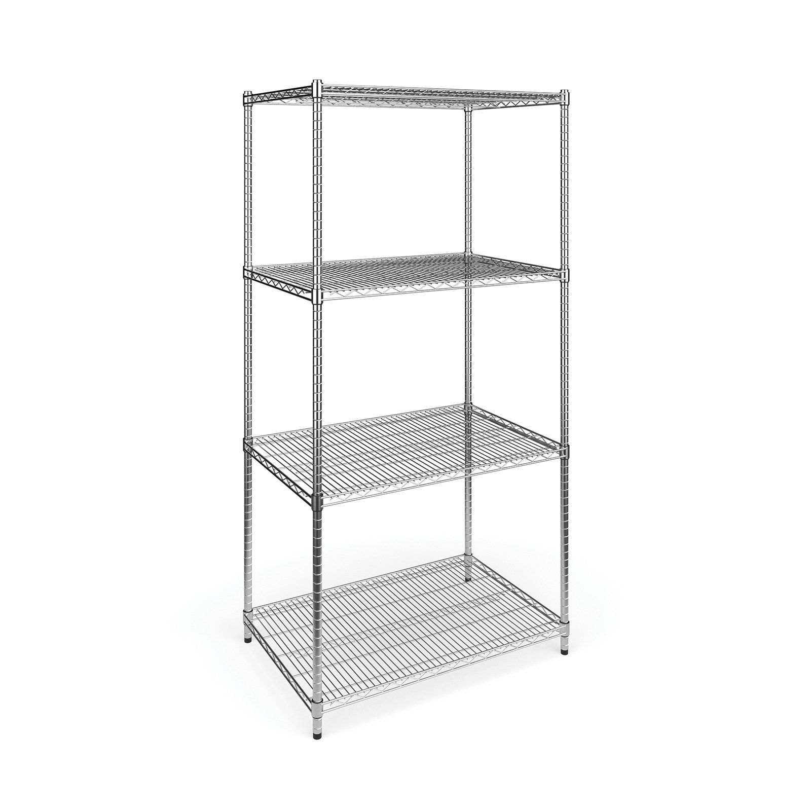 Ofm Model X5r Four Shelf Office Garage Storage Rack Wire Shelving Garage Storage Racks Shelves