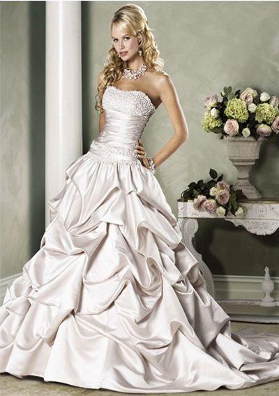 Attractive Ball-Gown Sweetheart Chapel Train princess wedding dresses