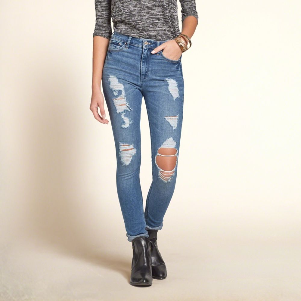 Girls Hollister High Rise Super Skinny Jeans | High rise ...
