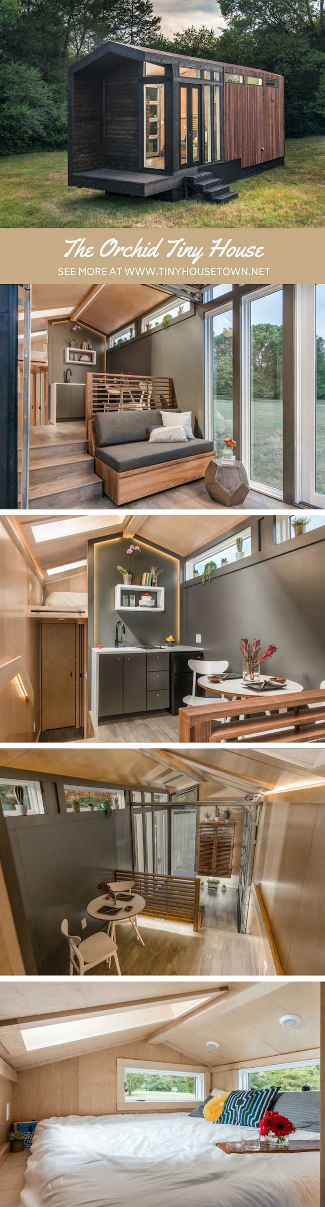stunning luxe tiny home designed and built by new frontier homes also rh pinterest