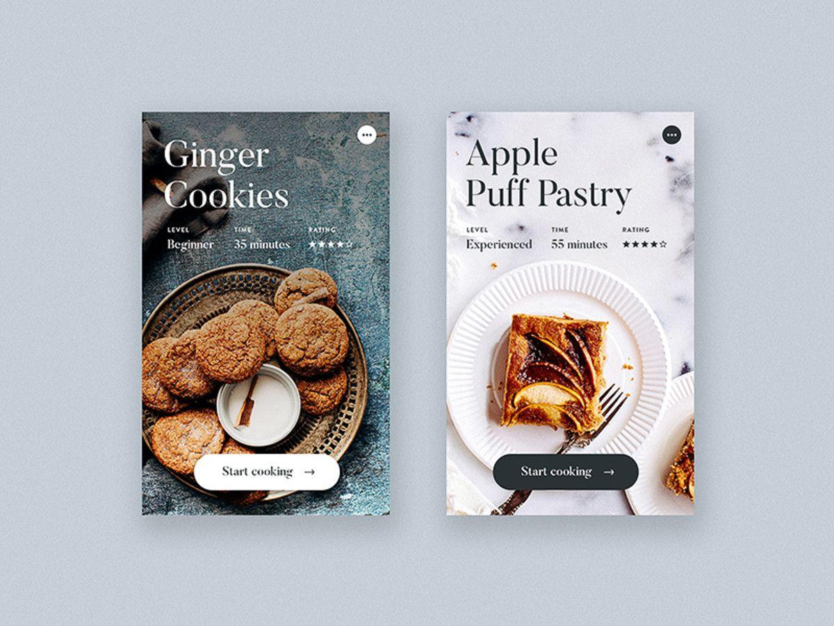 Cooking App Detail Screen