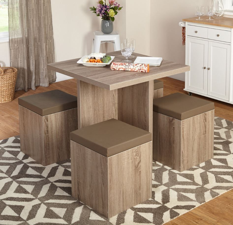 dinette sets for small spaces dining room table with stools chairs