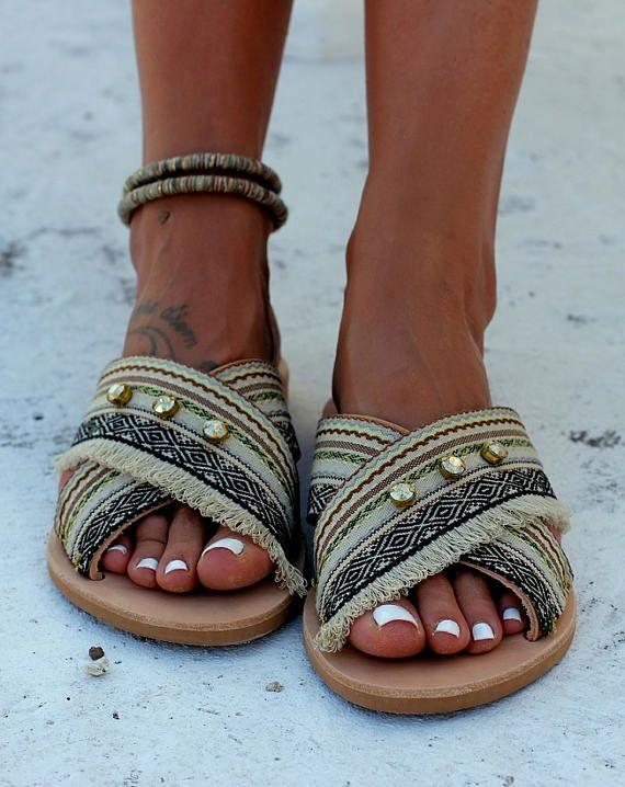 5dbc3a9d64c5 Handmade leather sandals Artisanal sandals Greek leather