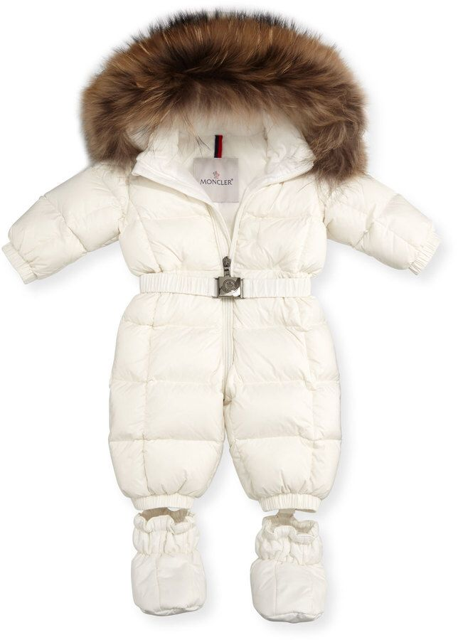 3f17976a5 Moncler Jean Quilted Snowsuit w Fur Hood