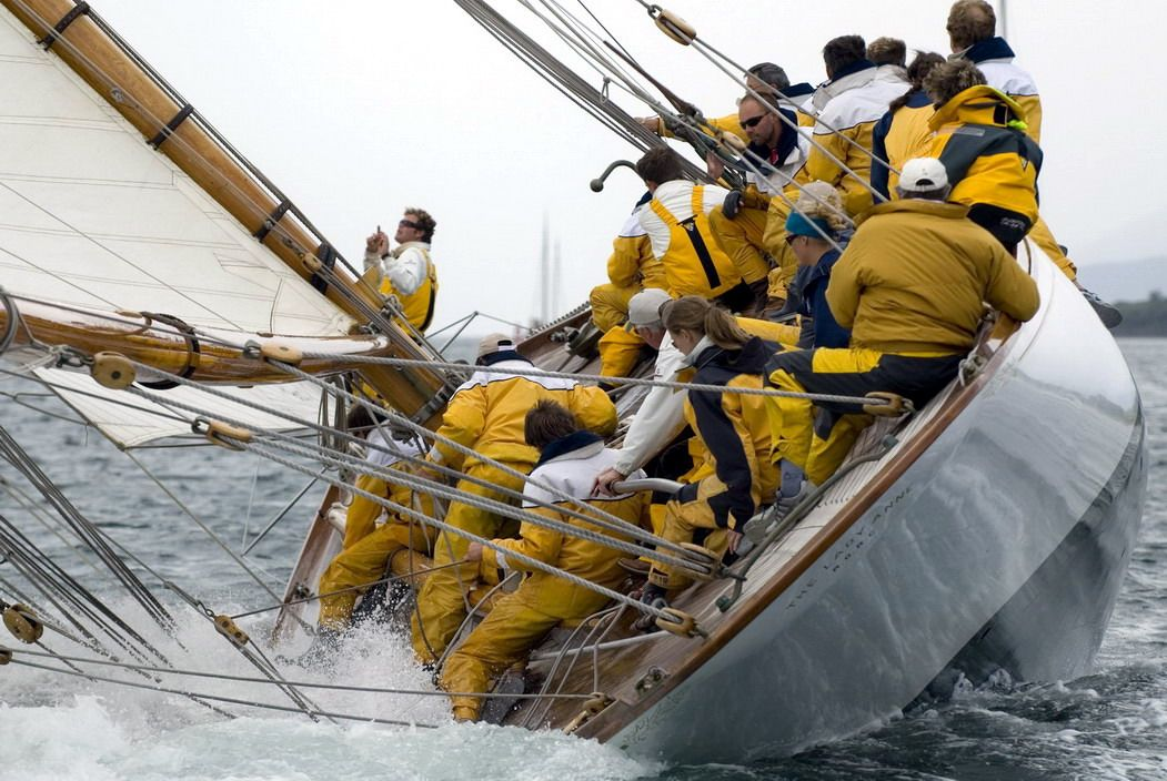 One of my shots from the 2008 Fife regatta. Would you believe that this yacht is 100 years old!