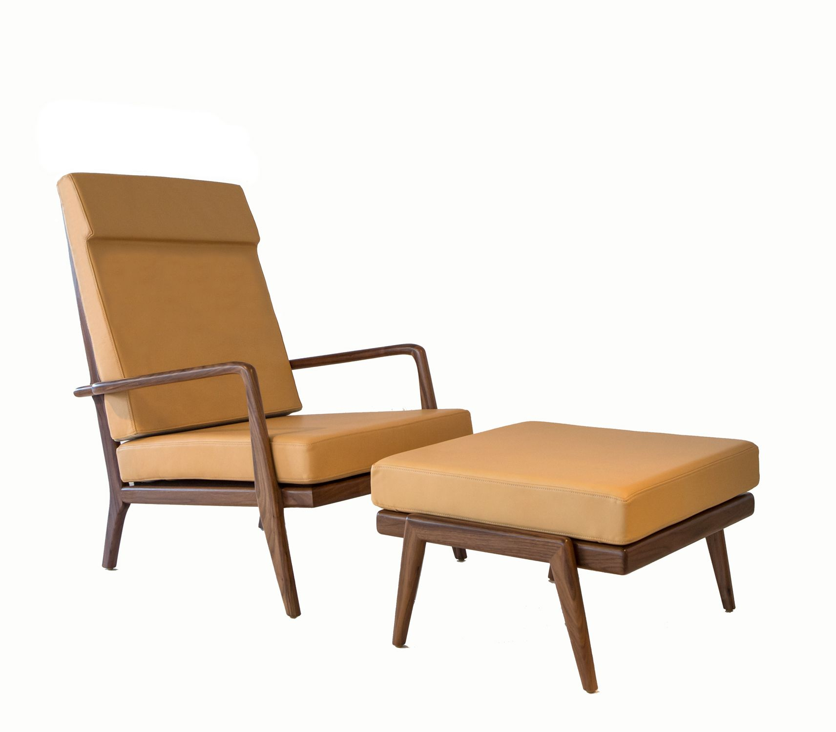 High Back RB Lounge Chair And Ottoman