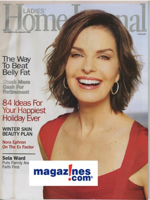 Sela Ward Is Ageless On The Cover Of Ladies Home Journal Magazine Magazines Com Blog Sela Ward Shoulder Haircut Short Wavy Hair