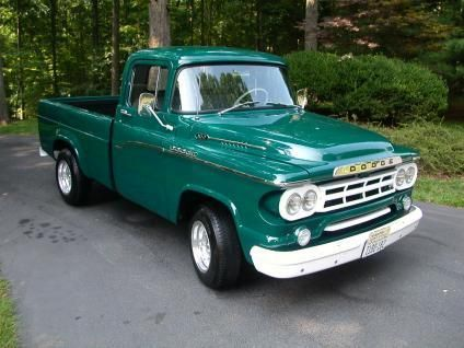 Beautifully Restored 59 Dodge Pickup D 100 Sweptline 318 Poly