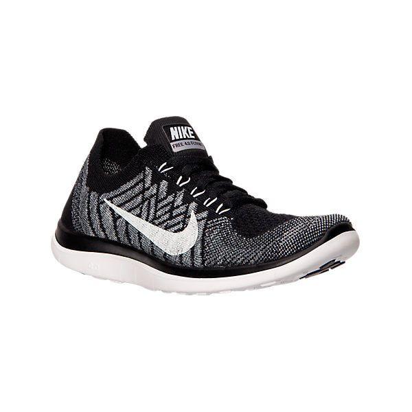 Nike Free 4.0 Flyknit Bouton Hommes En Noir Et Blanc Chemise
