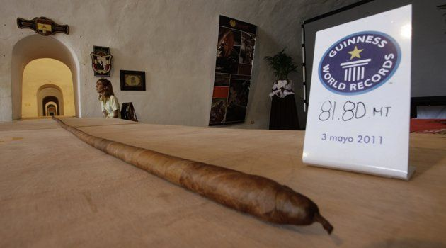 The world's longest cigar that stretched 268 feet 4 inches