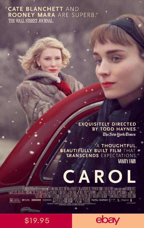 Carol Movie Poster (24x36) Kate Blanchett Rooney Mara