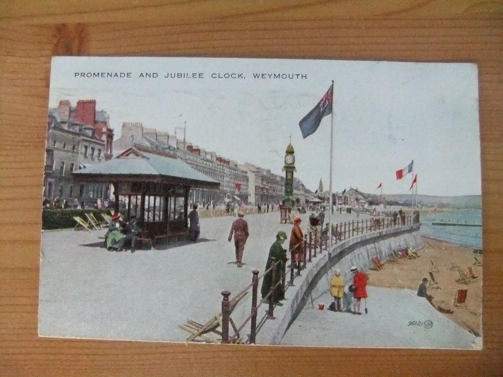 Postcard 1934 Weymouth, Dorset, colourful