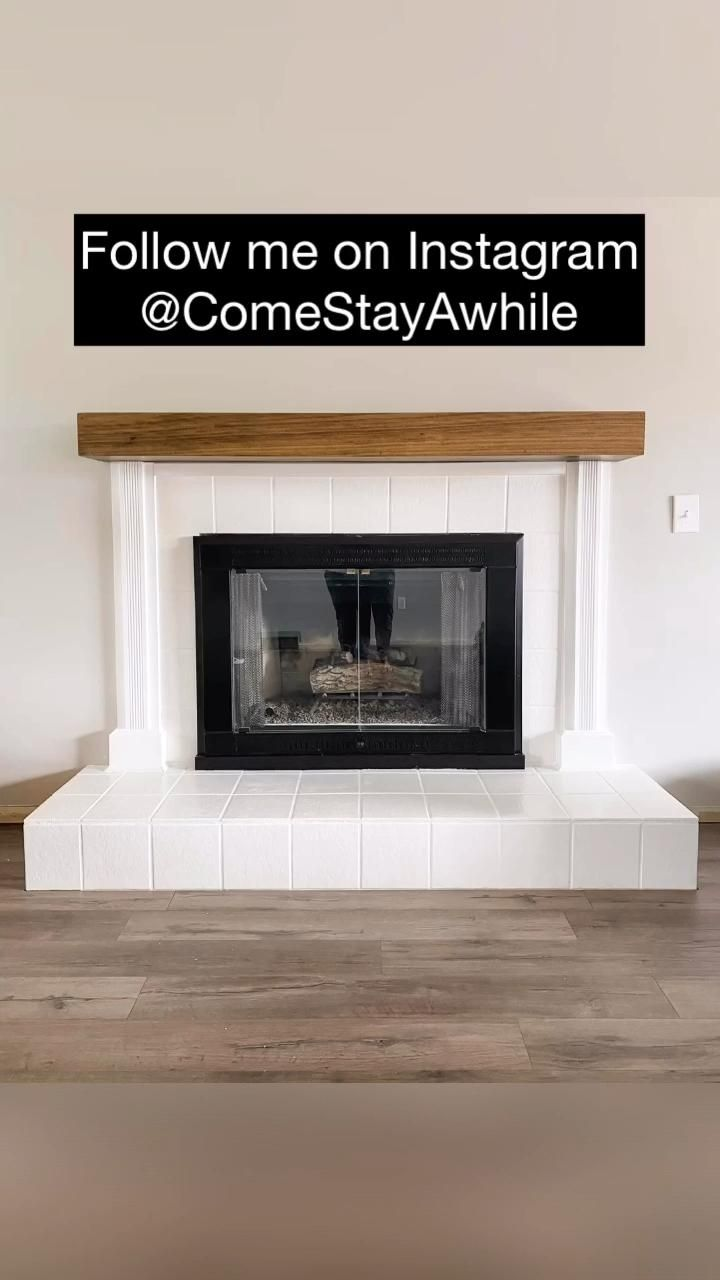 @ComeStayAwhile Easy DIY Fireplace Update