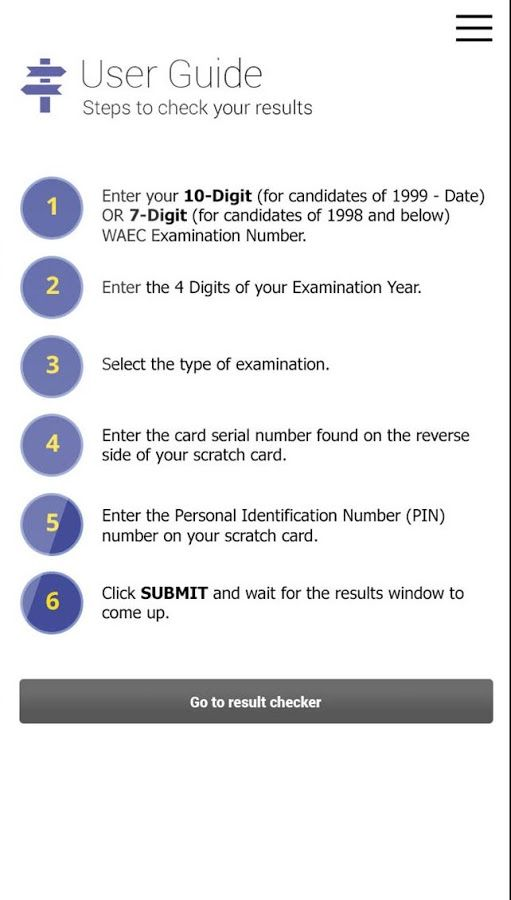 waec mobile result checker app waec result pinterest app rh pinterest com Waec Time Table WAEC Ghana