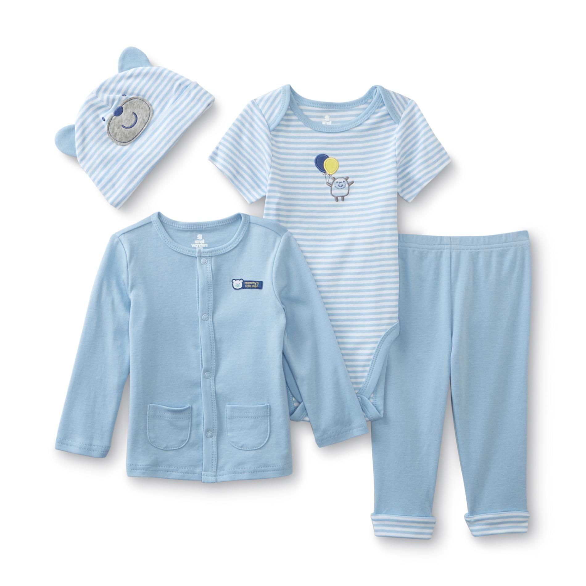 Small Wonders Newborn Boy s 4 Piece Layette Set Bear Size 6 9