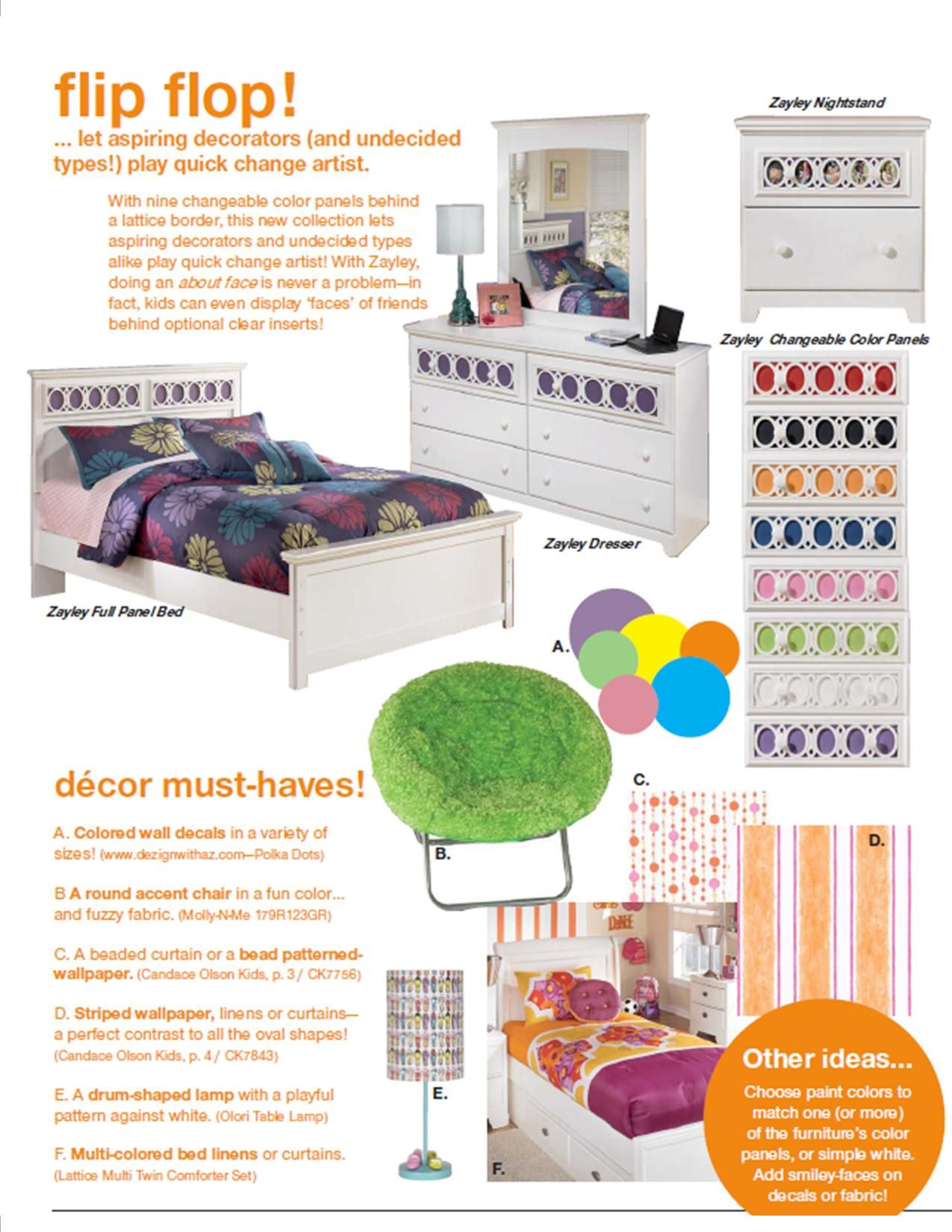 Youth Home Room: The Fun & Colorful Zayley Youth Bedroom From Ashley