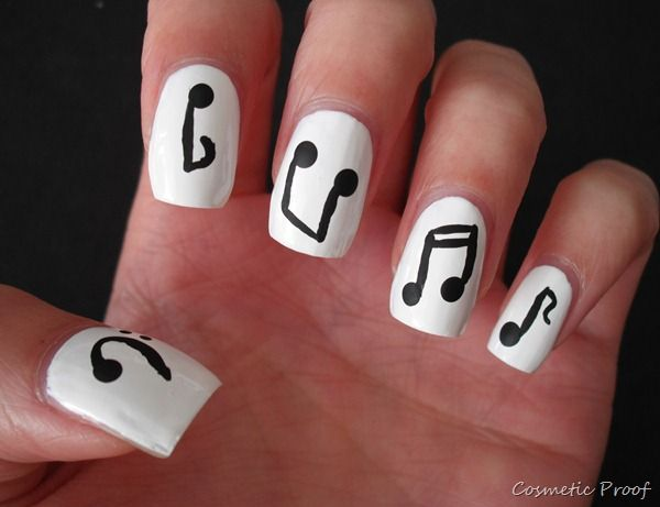 Music note nail design graham reid music nail designs shot with my violin putting the nails in prinsesfo Image collections