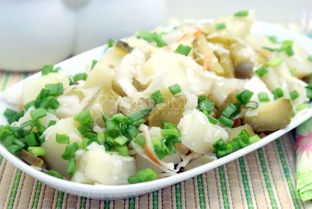 простой салат рецепт из картофеля