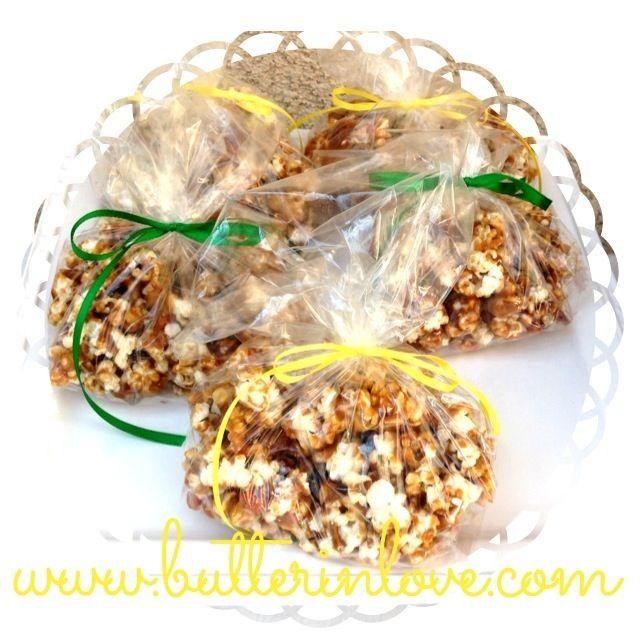 Caramel Popcorn - Wedding Favors - Individually Bagged Caramel Popcorn