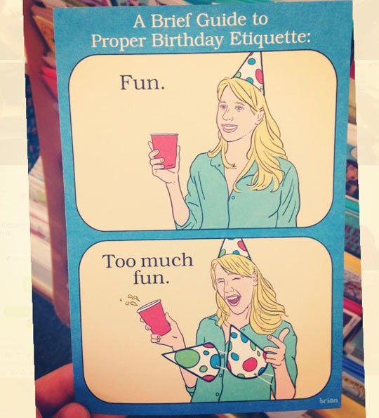 Proper birthday etiquette etiquette funny birthday cards and proper birthday etiquette bookmarktalkfo Gallery