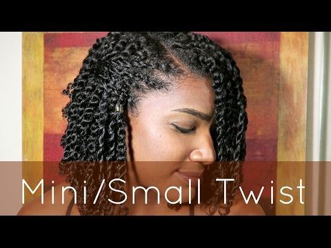 Hair Twists Rope Twists On Natural Hair Without Hair Bands