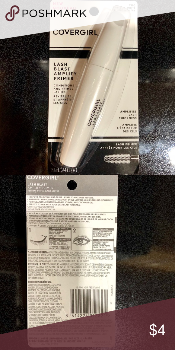 """e3ed71f07a4 NWOT Covergirl Lash Blast Amplify Eyelash Primer New in package. ~ """"Apply  this creamy"""