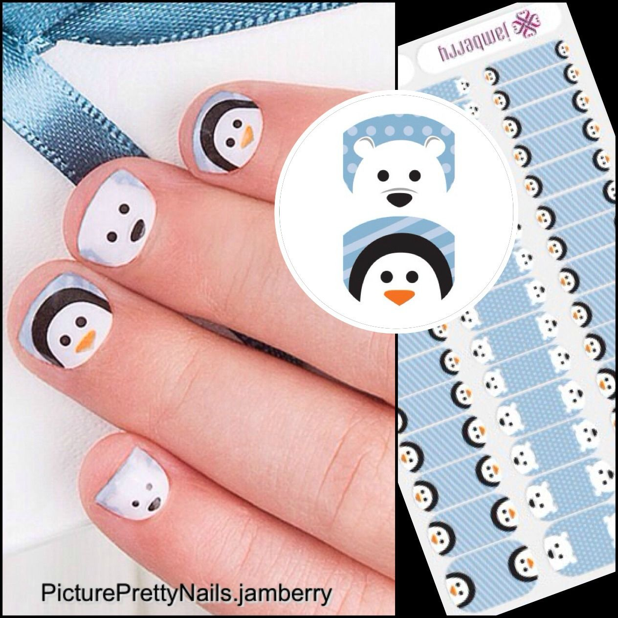What little girl wouldn't love to have the Jamberry Polar Pals wraps on their little finger? ~Picture Pretty Nails