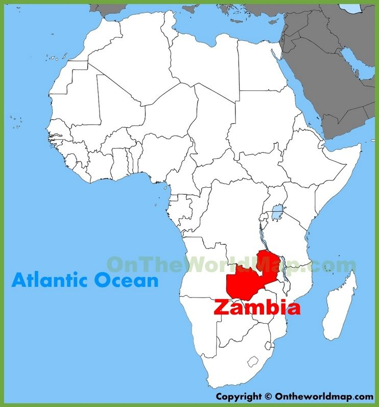 Zambia Map Of Africa Zambia location on the Africa map   Africa map, African map, Map