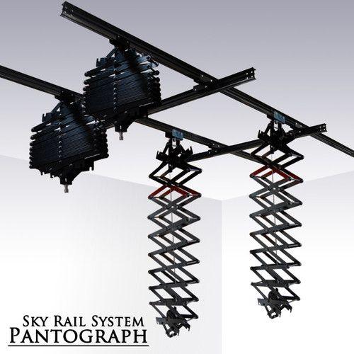 Studio Lighting Rail System: Photography Studio Lighting Sky Rail System Pantograph