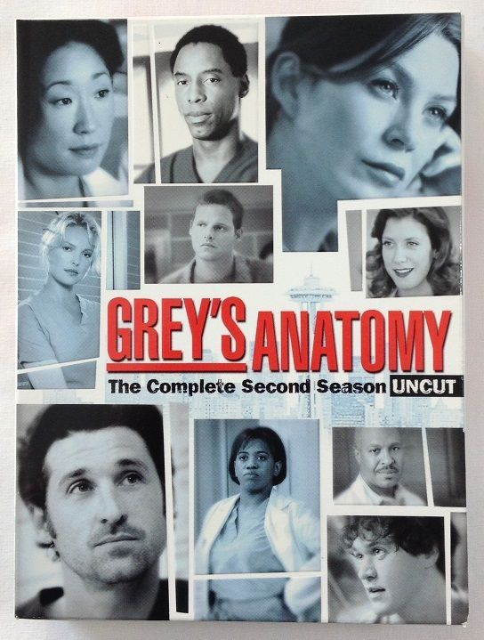 Greys Anatomy Season 2 Uncut Dvd 2006 6 Disc Set Tv